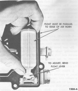 Fig. 89: Float Alignment